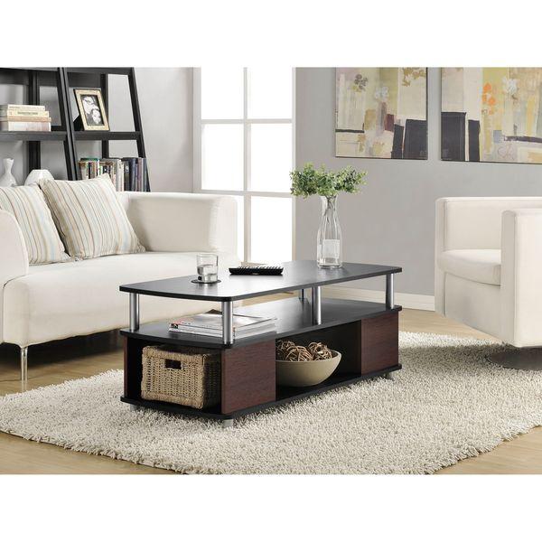 Altra Carson Open Storage Coffee Table (Black/Cherry Coffee Table)
