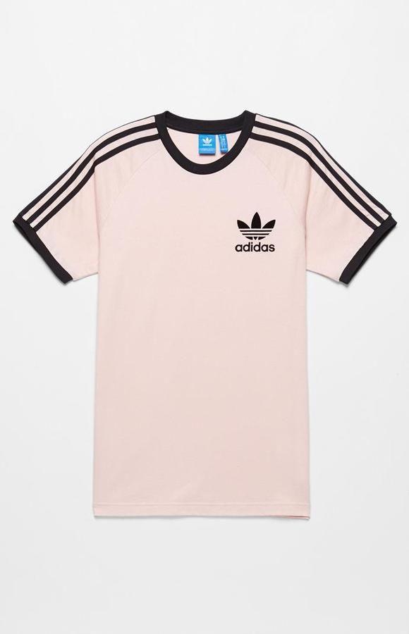 e9e093ec0c76f adidas California Pink & Black T-Shirt | Men's Wears in 2019 | Pink ...