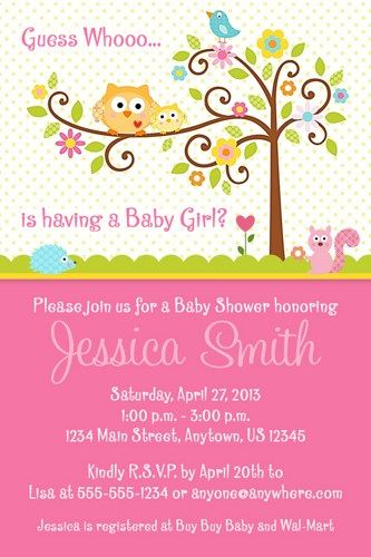 Happi Tree Owl Printable Baby Shower Invitation Owl printable - printable baby shower invite