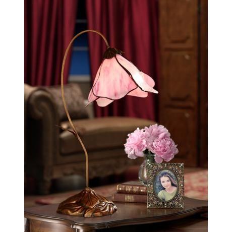 Tiffany Pink Petal Desk Lamp