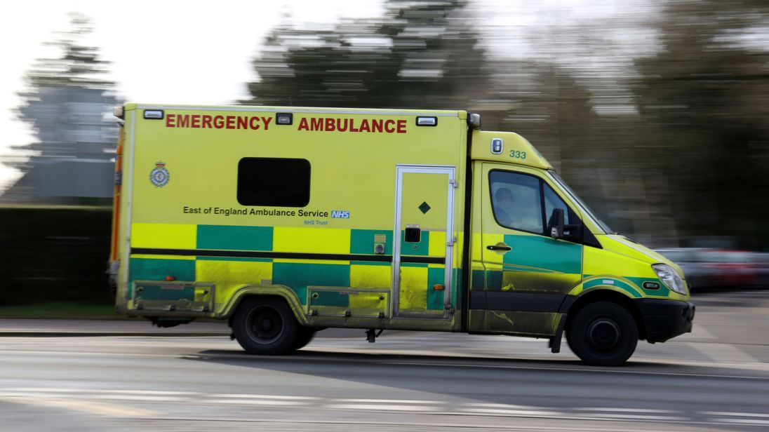 NHS crisis Nine in 10 ambulance services in England under