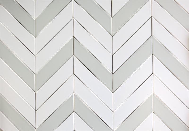 Ceramic Chevron Subway Tile Gray Silver Fox Modwalls Tile