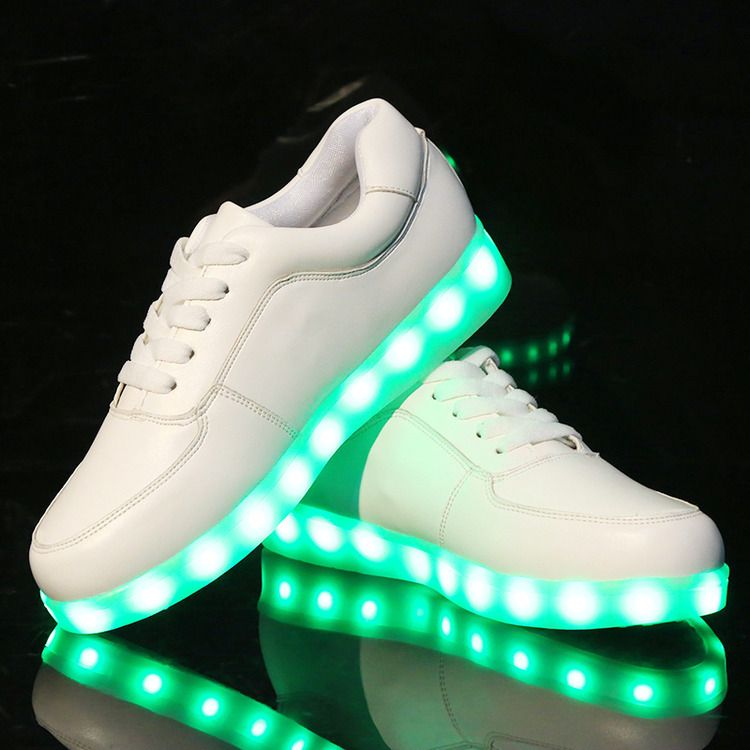 (Buy here: http://appdeal.ru/7uo ) 7 Colors luminous shoes unisex led glow shoe men & women fashion USB rechargeable light led shoes for adults led shoes for just US $29.00