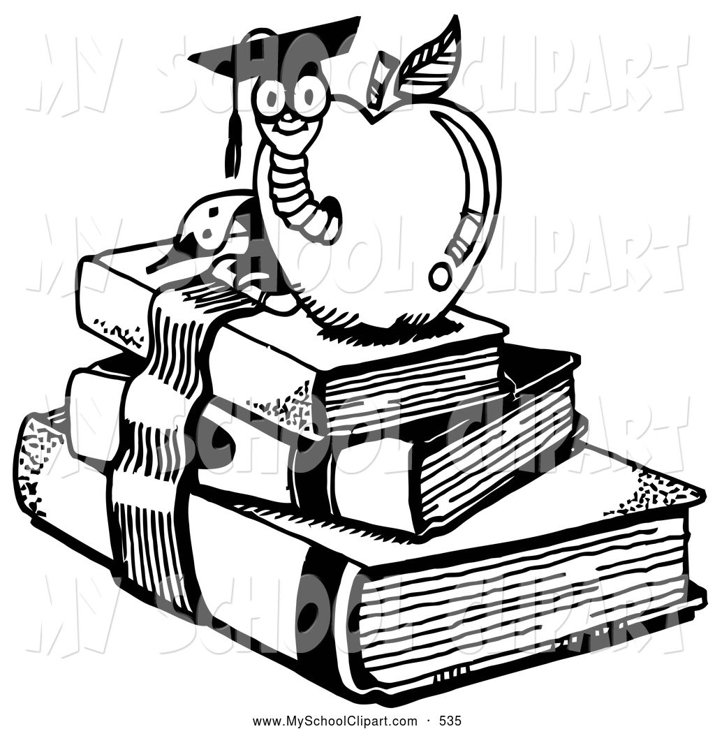 Book worm coloring pages - Book Worm Coloring Pages Coloring Page Of A Graduate Worm Emerging From An Apple Atop