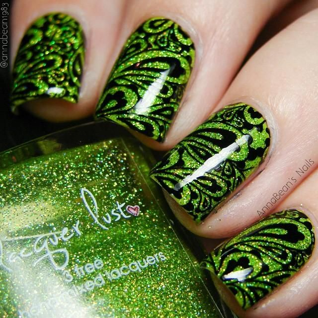"""Lacquer Lust """"Lime Light"""", two coats over China Glaze """"Def Defying ..."""