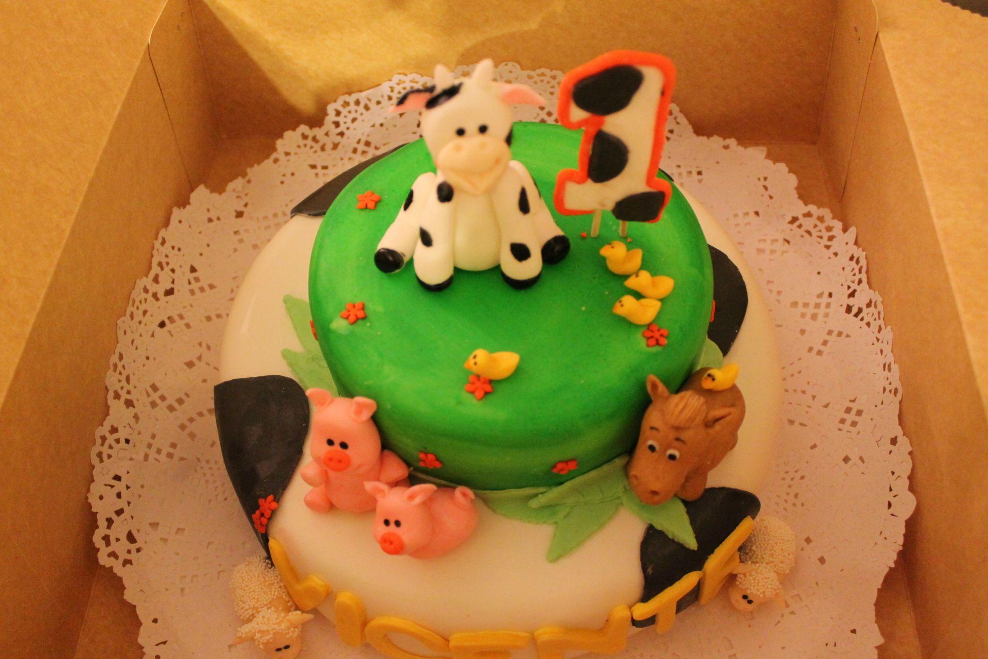 Torta con decoración de Animales de la Granja