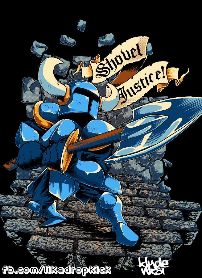 Shovel Knight Fan Art Shovel Knight Dropped Into Physical Copies Awhile Back And That S When I Drew This Up I Had To Celeb Shovel Knight Shovel Knight Art