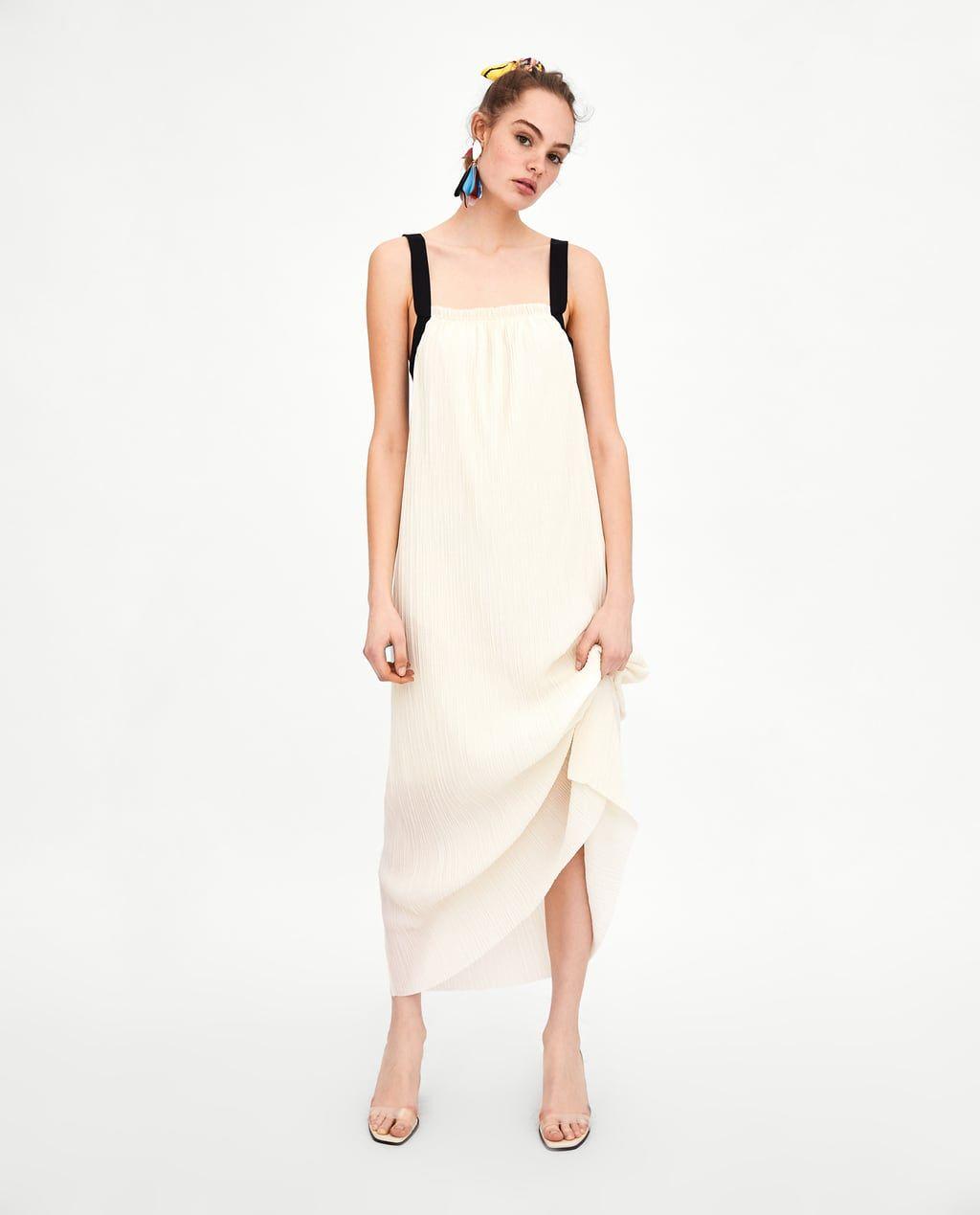 Zara Largo PlisadoFashion Vestido Ssfw15 Dresses 45RjL3Aq