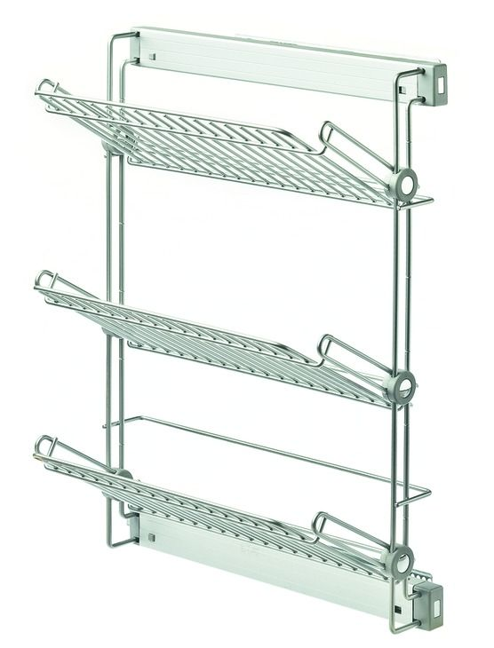 Wire Shoe Rack Three Tiers Side Mounted Pull Out In The Hafele