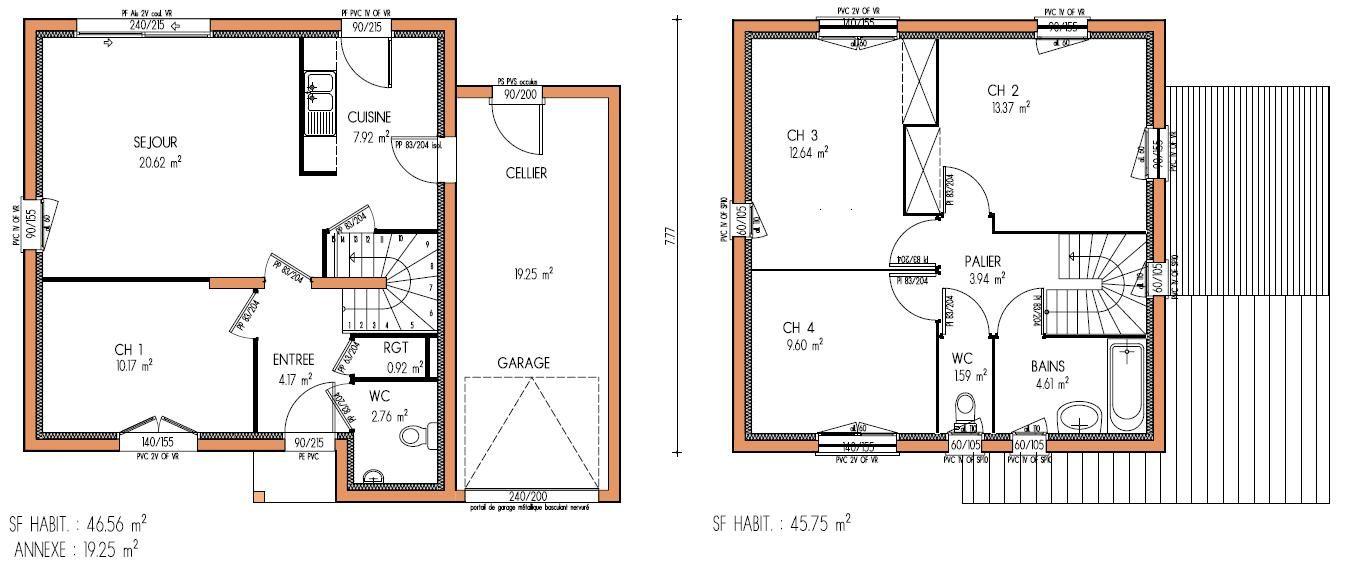 Votre avis sur le plan de ma maison 120 m2 avec étage (22 messages - plan de maison moderne a etage gratuit