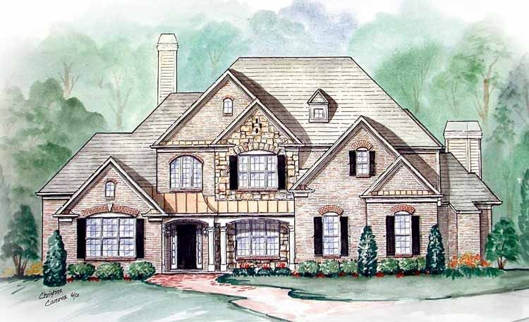 Country Style House Plan 4 Beds 3 5 Baths 3393 Sq Ft Plan 54 202 Country Style House Plans French Country House Plans French Country House