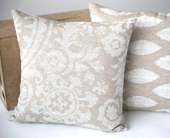 26X26 Pillow Insert Glamorous Suzani Burlap Decorative Throw Zipper Pillow Cover Tan Made To Fit Decorating Design