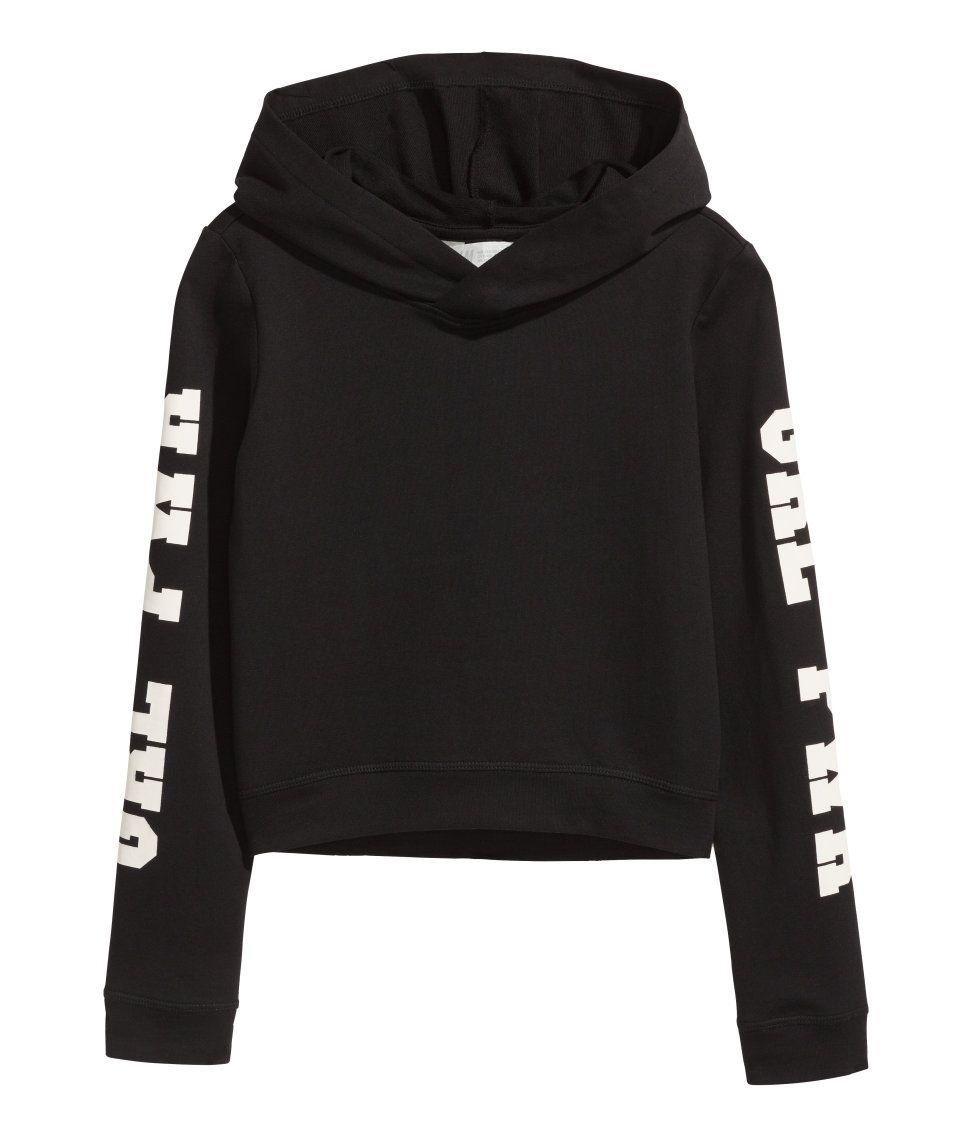 ddc3e12bdc0ca Printed Hooded Sweatshirt | H&M Kids | H&M KIDS | Girls sweaters ...