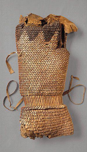 Уникальный скифский кожаный доспех 6 в. до н. э. Музей Метрополитен, Нью Йорк.