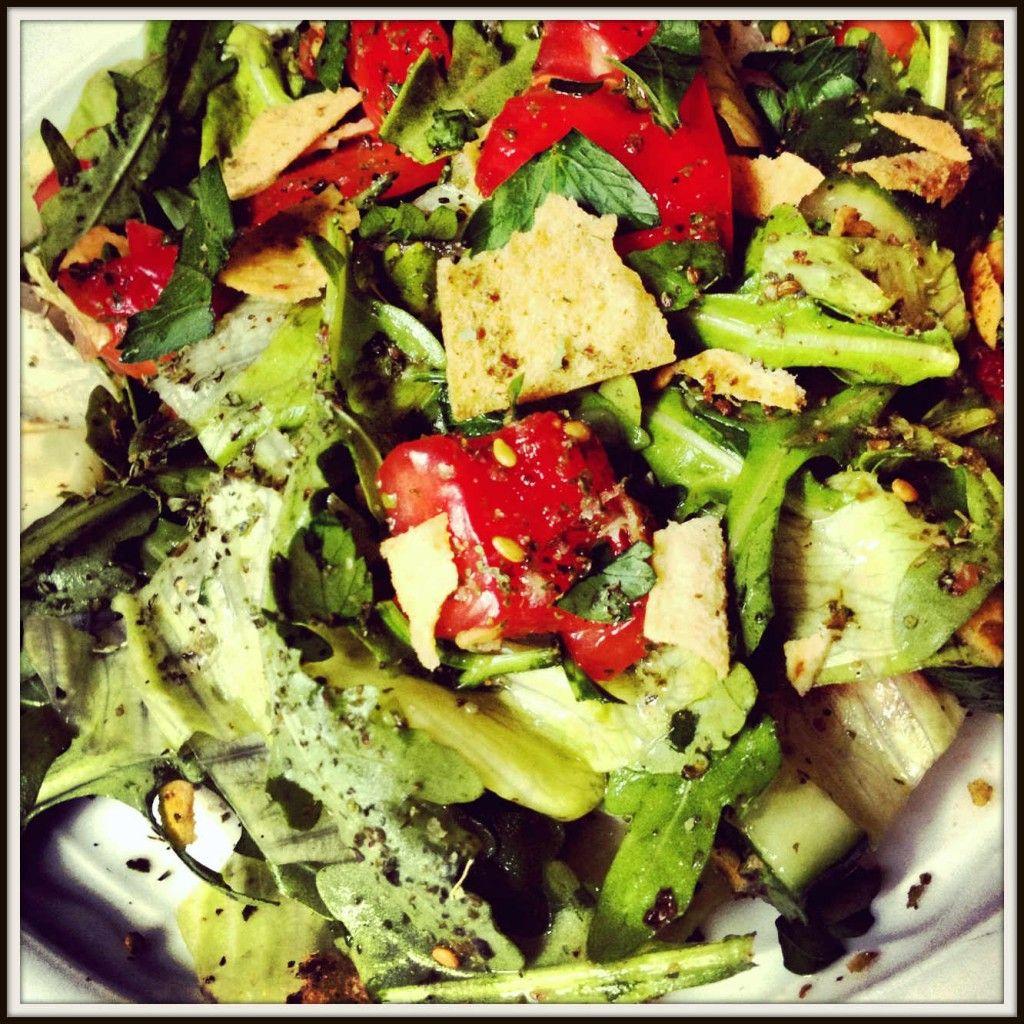 Fattoush Salad - Middle Eastern Bread Salad