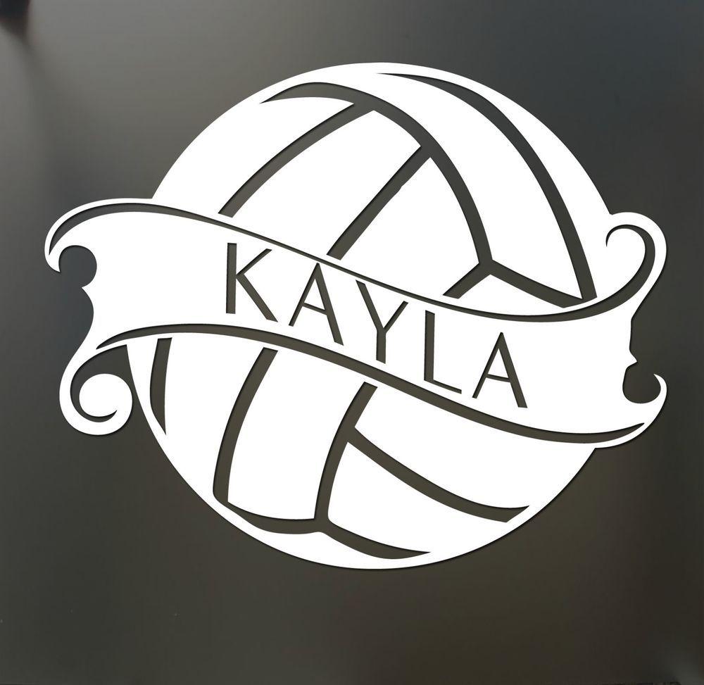 Details About Volleyball Sticker Custom Name Decal Car Window Sticker Pick Your Color Mom Voleibol Decoraciones De Voleibol Deportes Voleibol