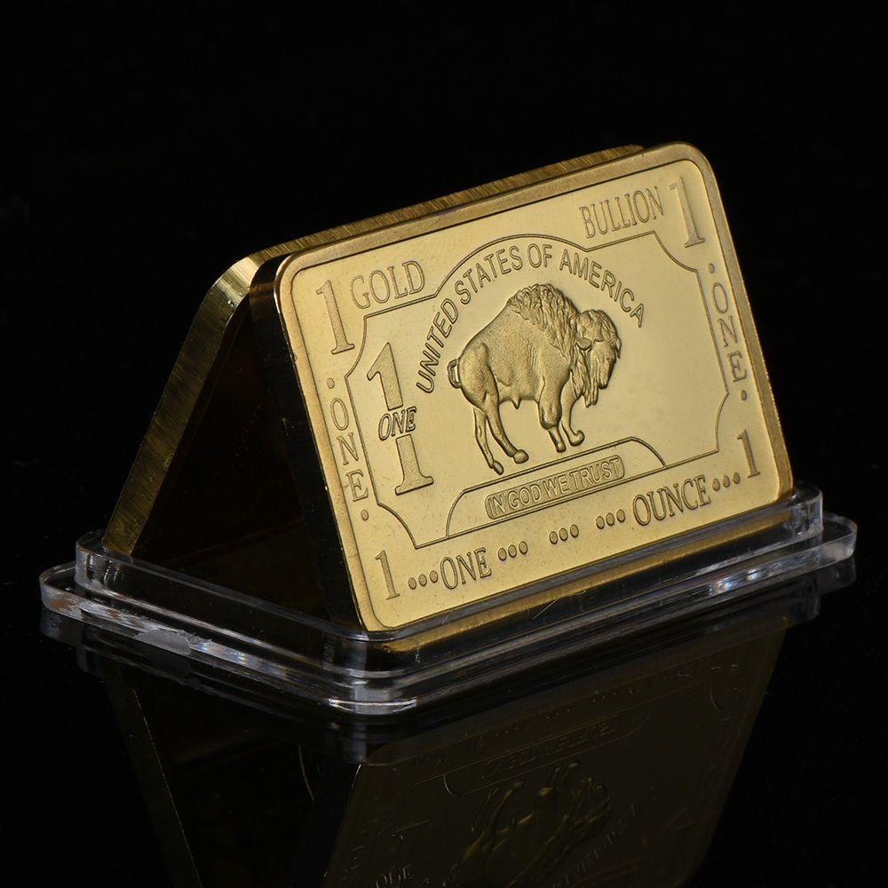 Wr Art 1 Troy Oz 100 Mills 999 Gold Us Buffalo Clad Bar Collectors Gift In Case Wr Gold Bullion Collector Gifts Buffalo Bar