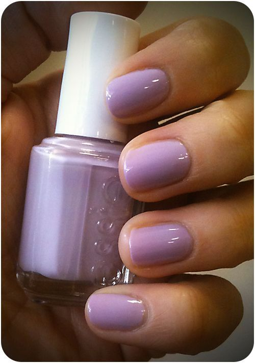 Lilac Nails Essie Nice Is Beauty And The Brunette