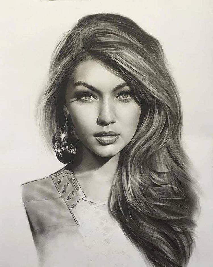 gigi hadid drawing art