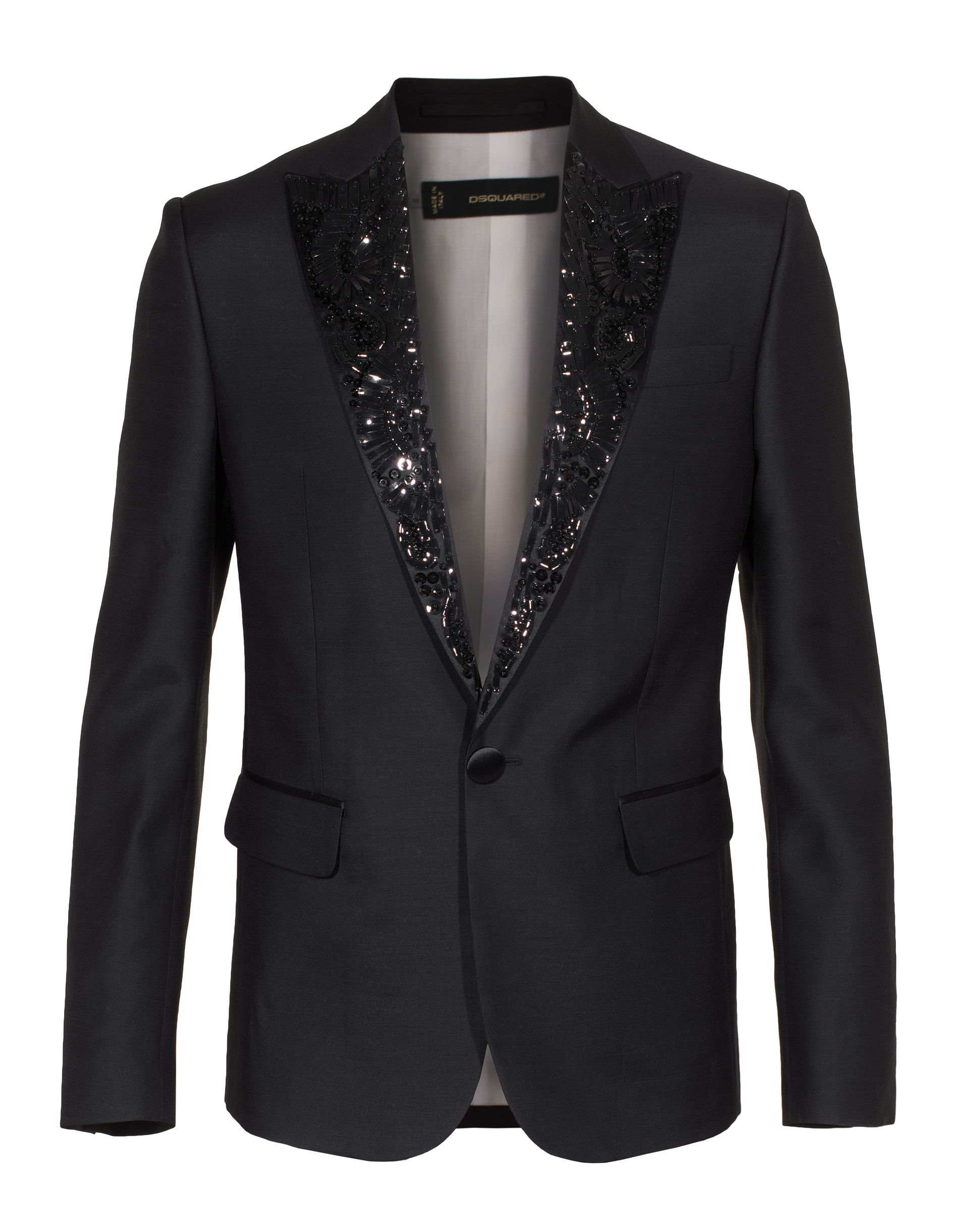 8bd30e7718 DSQUARED Smoking Black Smoking jacket with details | Férfi zakók ...