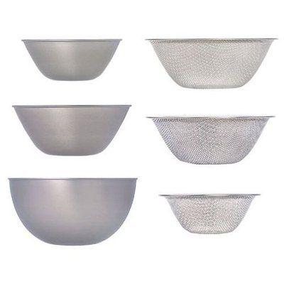 Sori Yanagi stainless bowl punchingstrainer 161923 6pcs  eBay