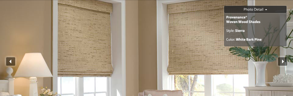 Hunter Douglas Provenance Woven Wood Shade Sierra White Bark