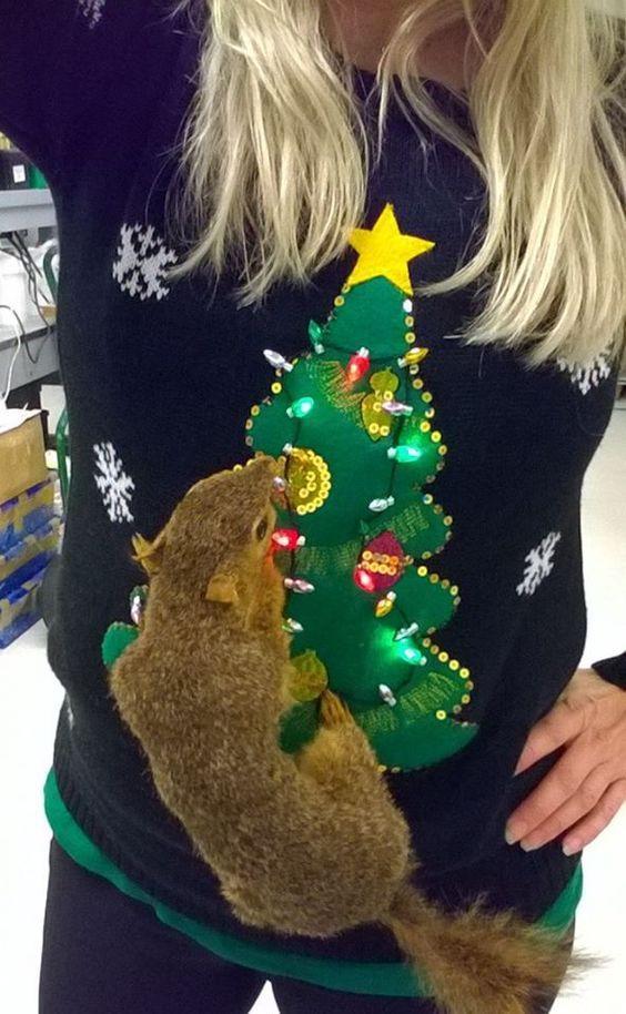 Cousin Eddie National Lampoons RV tacky ugly Christmas xmas party elf Sweatshirt