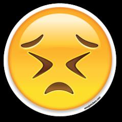 Persevering Face Emojistickers Com Emoji Stickers Emoji Emoji Wallpaper