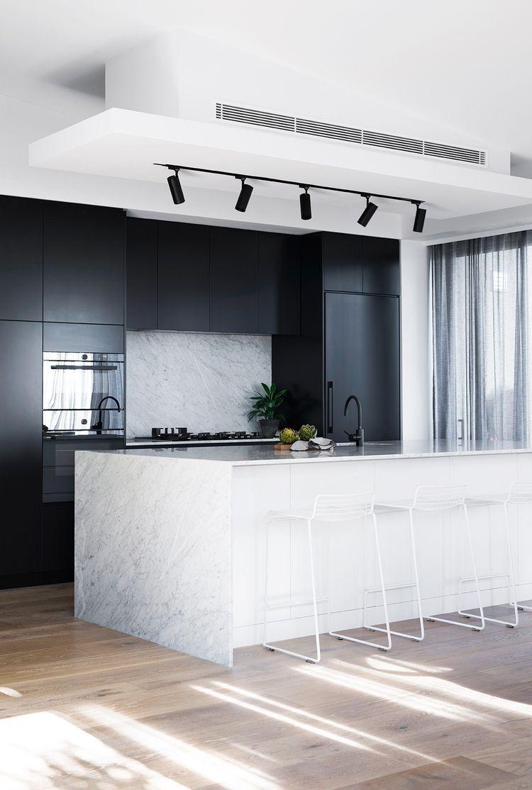 nice kitchen track lighting interior decor. Black \u0026 Marble Kitchen Overhang Nice Track Lighting Interior Decor K