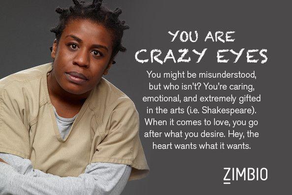 I took Zimbio's 'Orange Is the New Black' quiz and I'm Crazy