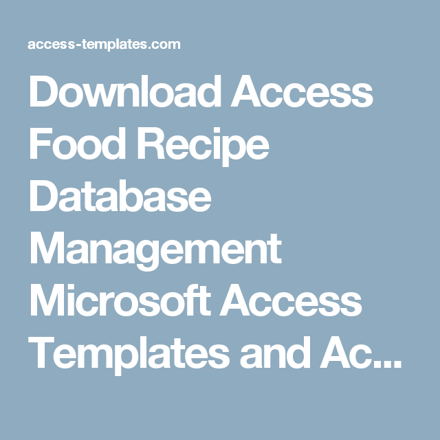 access database template download