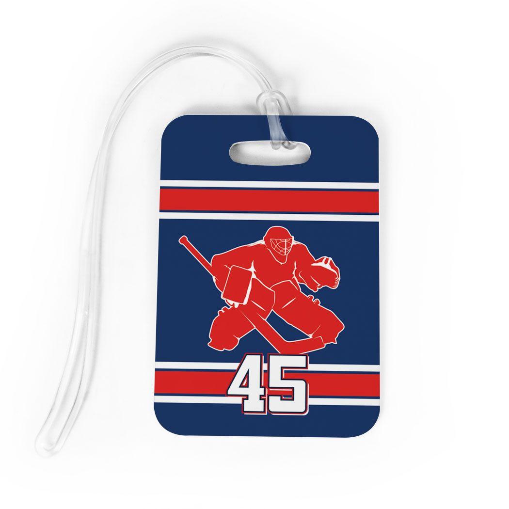 Hockey Bag Luggage Tag Personalized Hockey Goalie Hockey Bag Hockey Goalie Luggage Tags