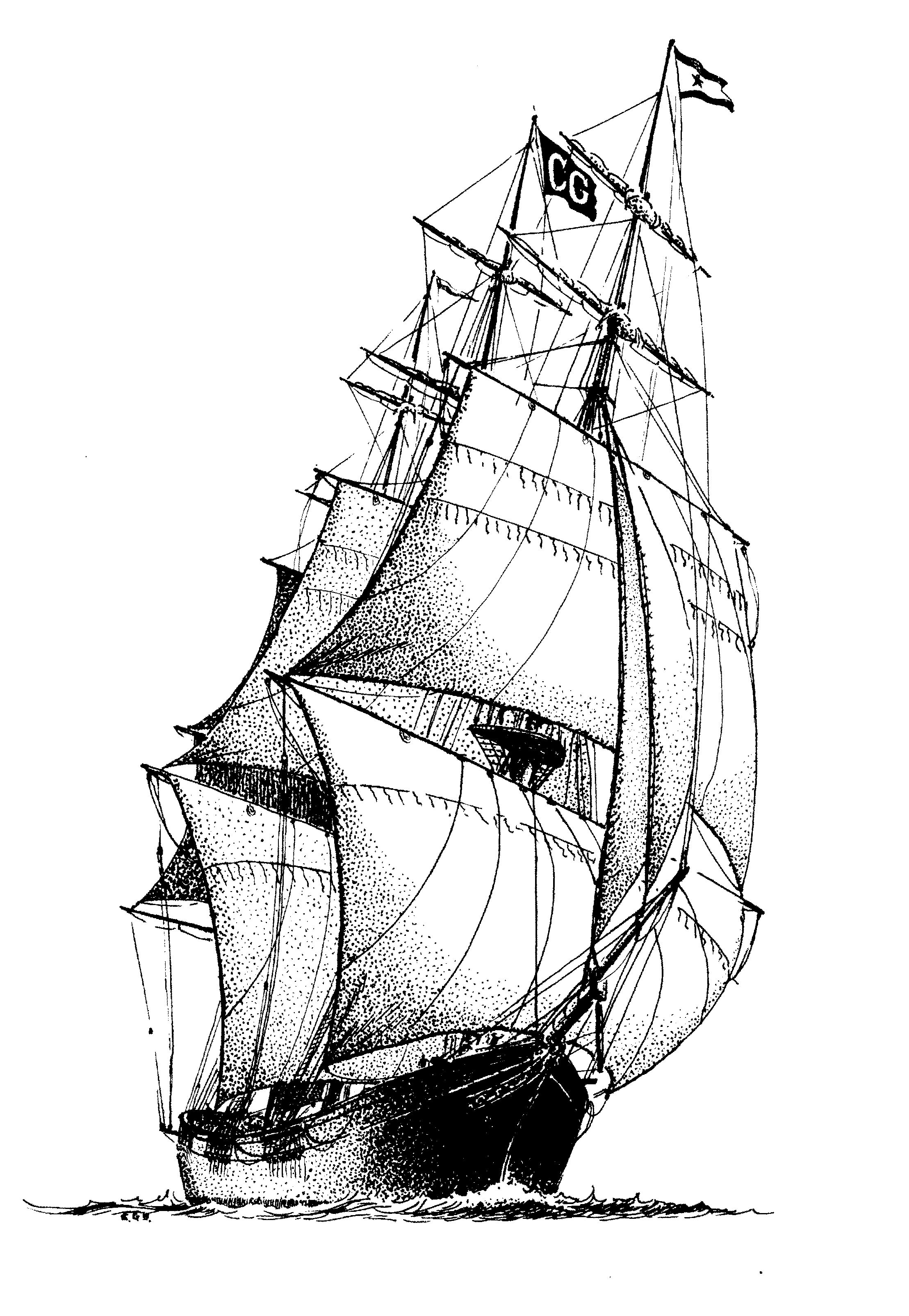 Pin By Cande Ferrario On Tattoo Ideas Ship Drawing Ship Paintings Boat Drawing