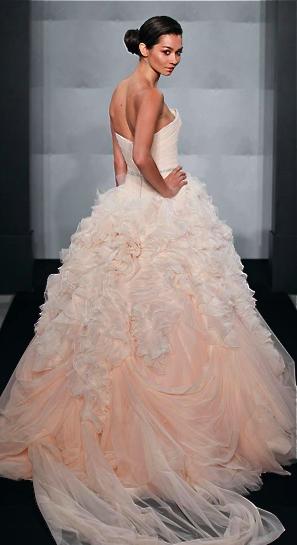 Blush Wedding Gown | Mark Zunino | The Perfect Wedding | Pinterest ...