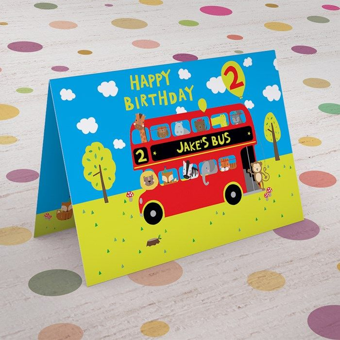 Personalised With Their Name And Your Message Inside This Fun Birthday Card Is Perfect For Sending Wishes To A Little One From 99p Buy Now