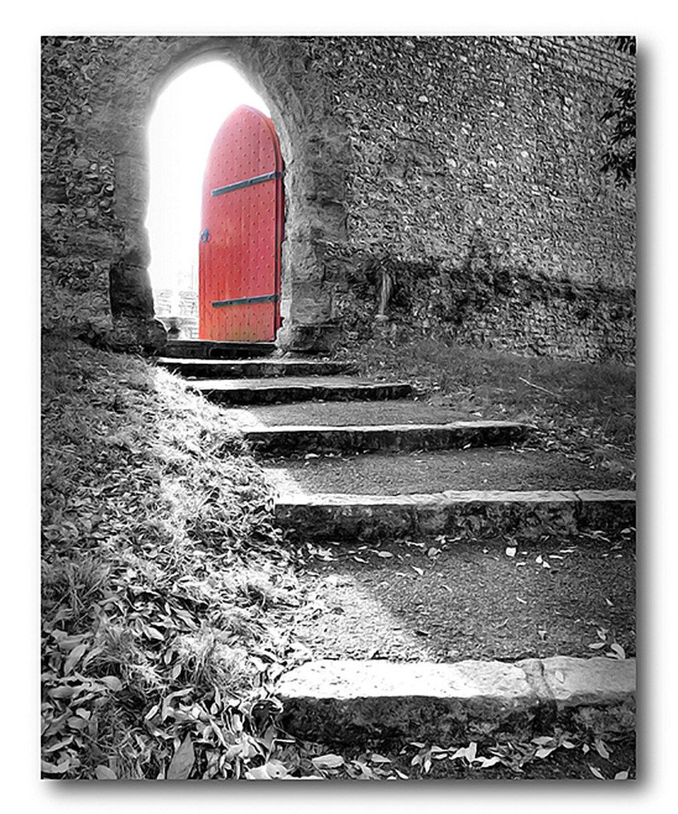 Look what i found on zulily behind the door stairs wrapped canvas