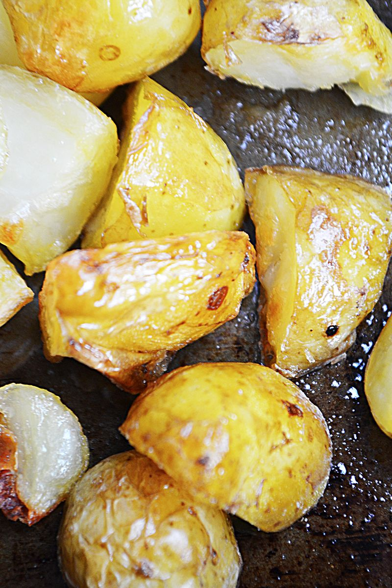 Crispy Garlic & Sea Salt Potatoes