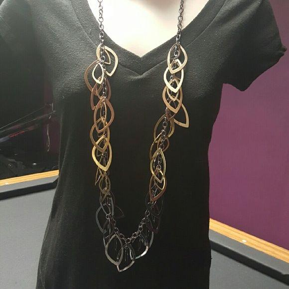Premier Designs Autumn necklace Hematite, matte gold tone ...