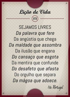 Sejamos Livres Lições De Vida Pinterest Frases Quotes E Words
