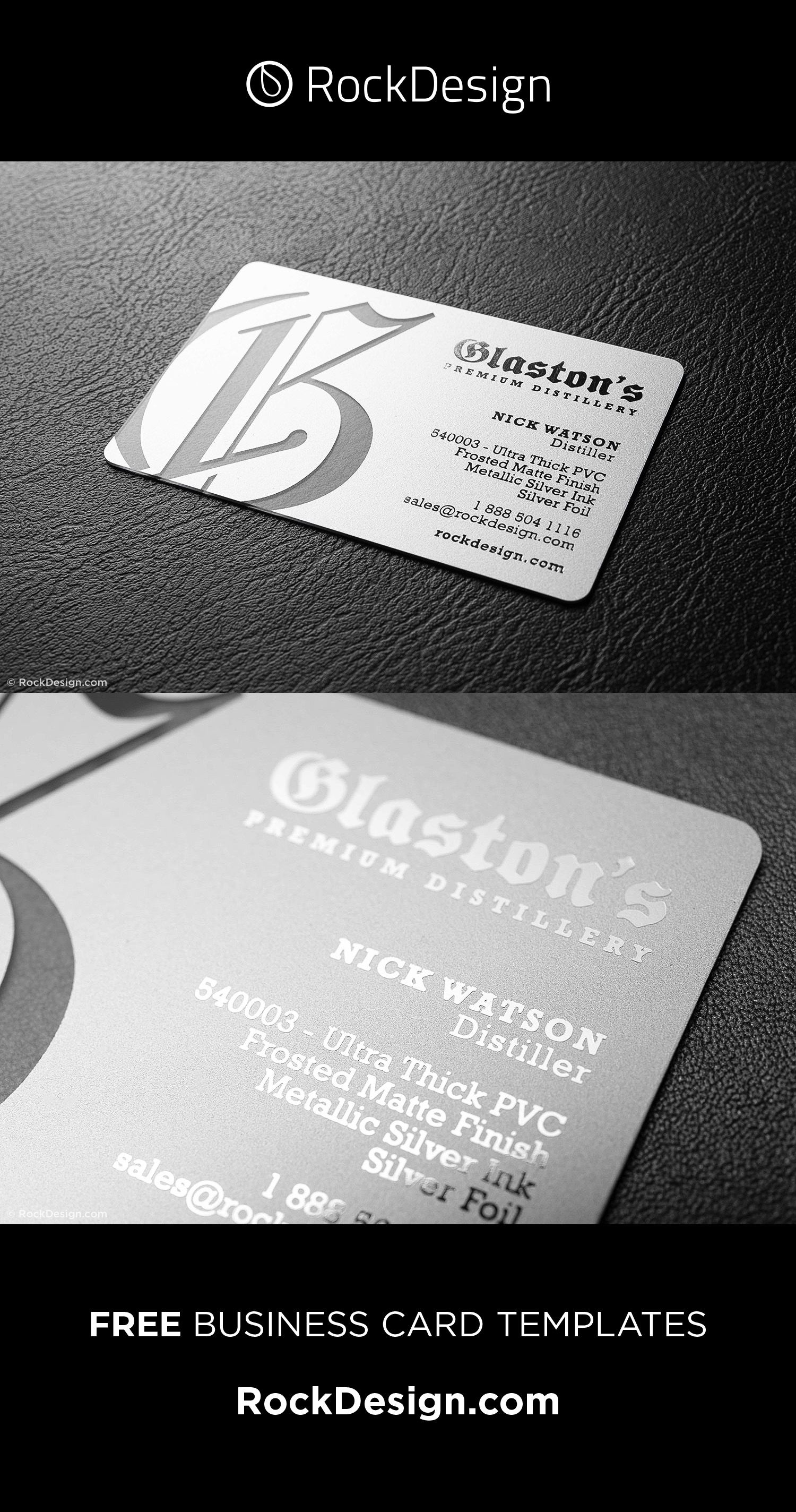 Ultra Thick Clear Matte Pvc Glaston Elegant Business Cards Design Business Card Template Design Metal Business Cards
