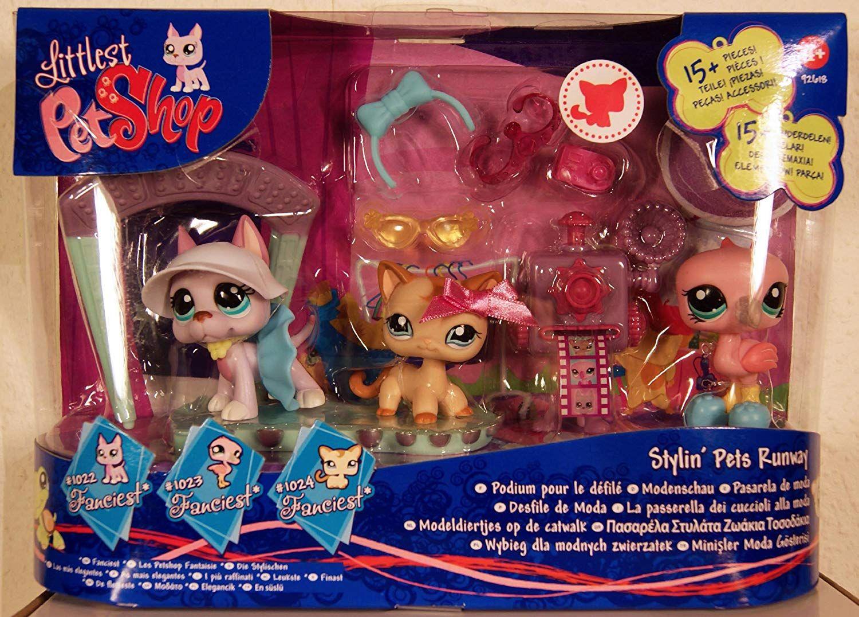 Littlest Pet Shop Fanciest Stylin Pets Runway Super Set Mit Great Dane Hund 1022 Flamingo 1023 Katze 1024 Viel Viel Z Koshki Zoomagazin Monstrov