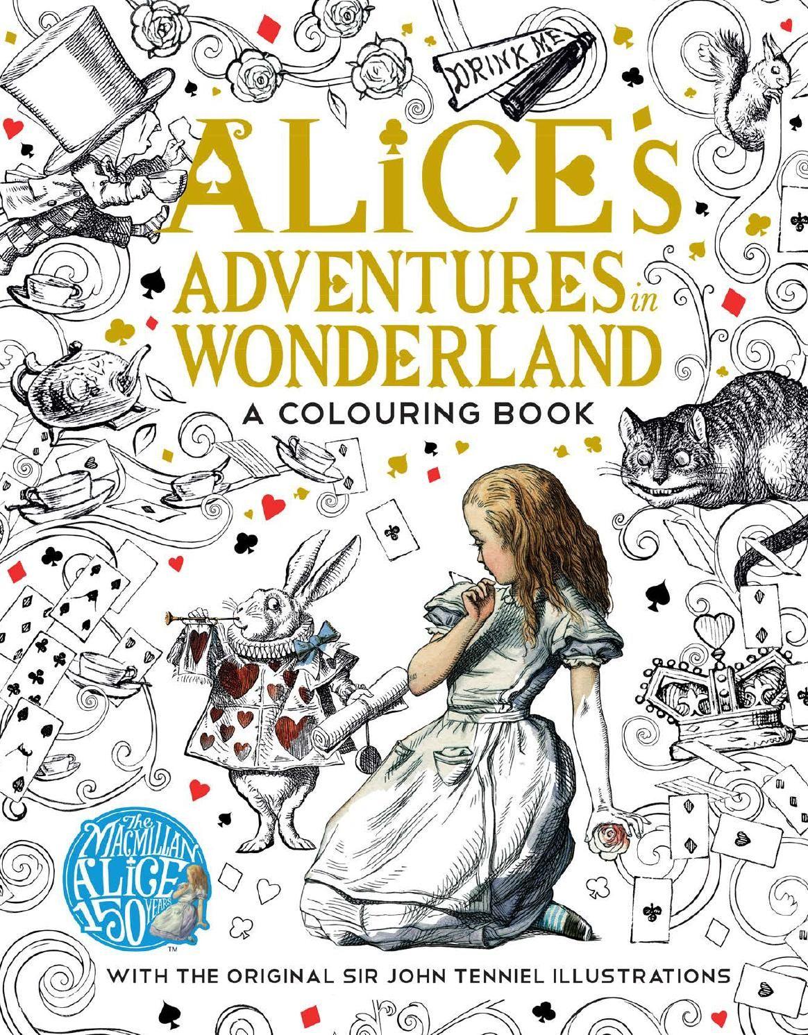 alice u0027s adventures in wonderland colouring book coloring books