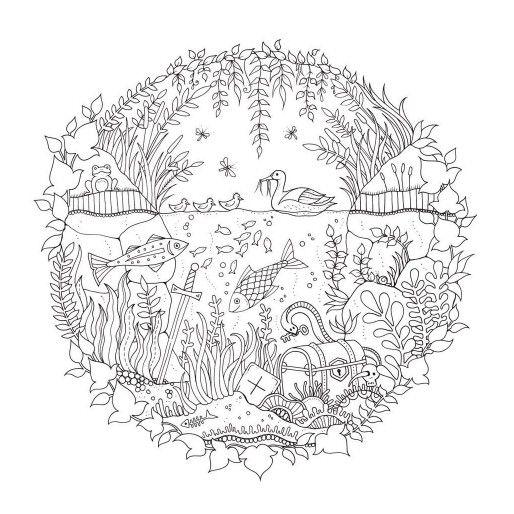 Enchanted Forest Johanna Basford Enchanted Forest Coloring Book Basford Coloring Book Forest Coloring Book