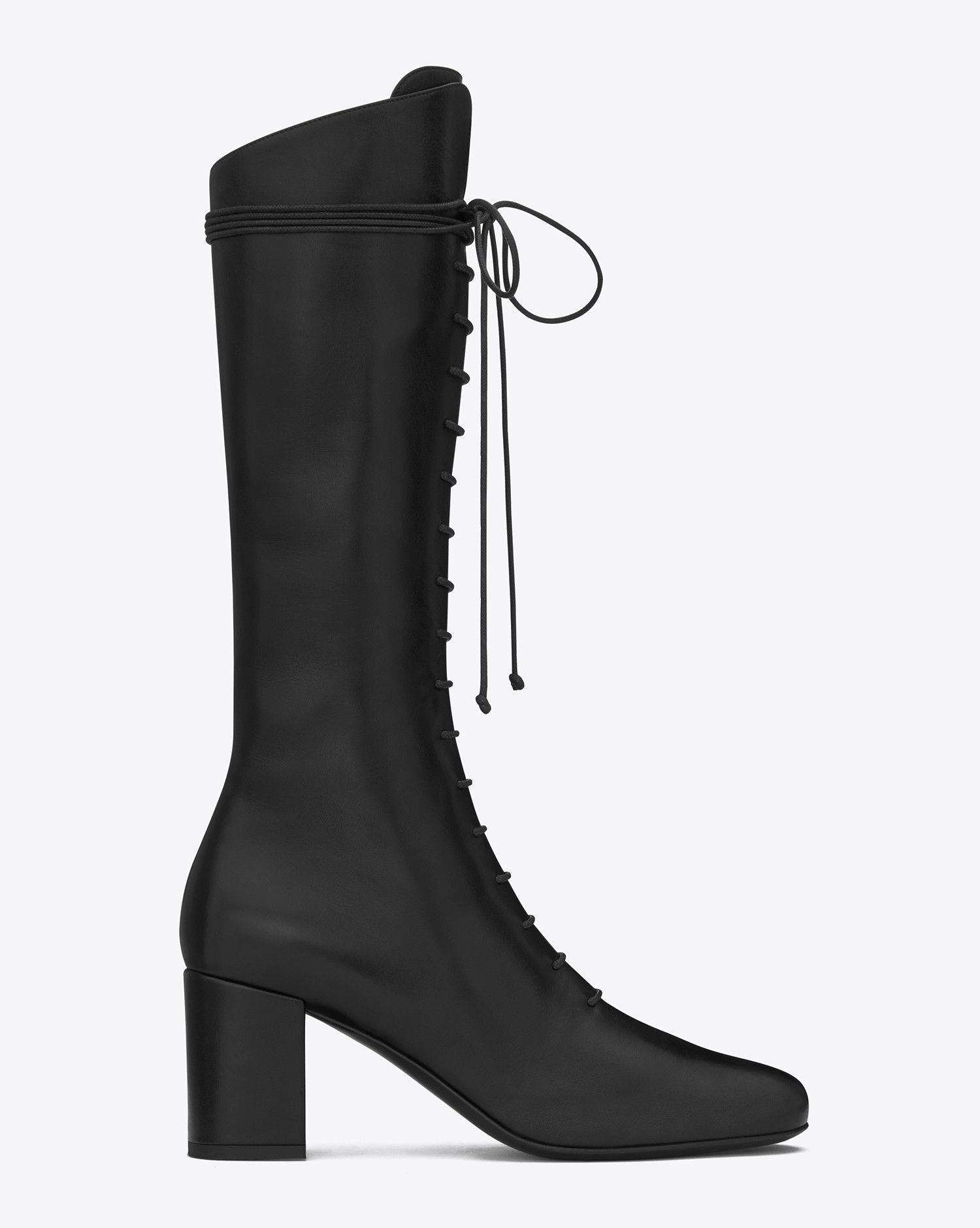 buy online 0fd35 f377f Saint Laurent BABIES 70 Lace Up BOOT IN Black Leather | ysl ...
