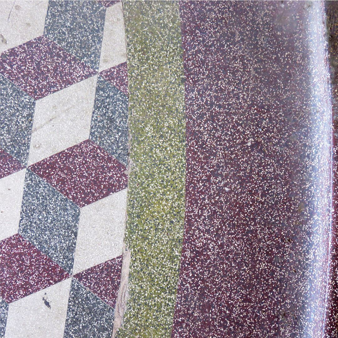 Colorful Terrazzo Floor Pattern In Art Deco Home Terrazzo