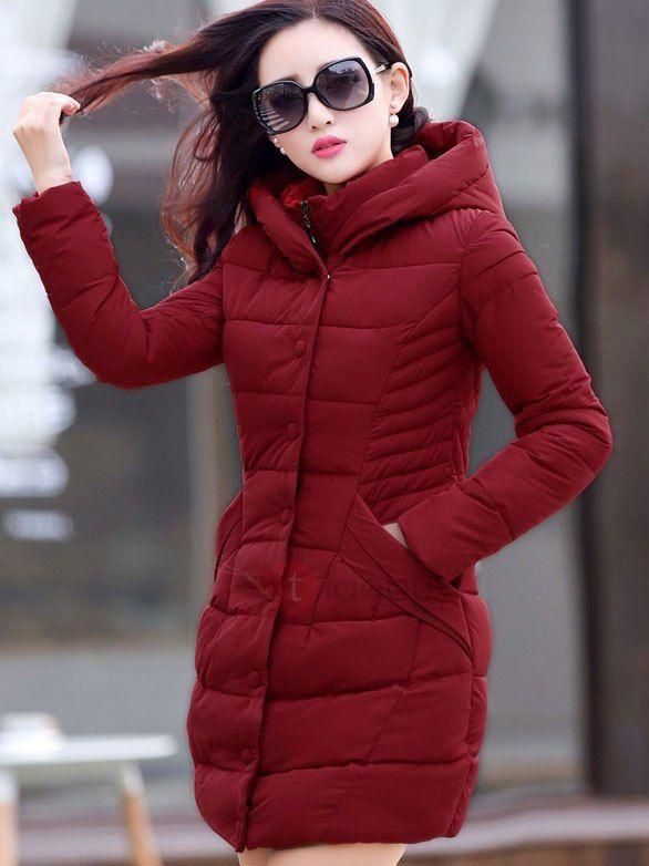 Botones Caliente Venta Con Plumones Abrigo Mujer Para Bolsillos fIq57w