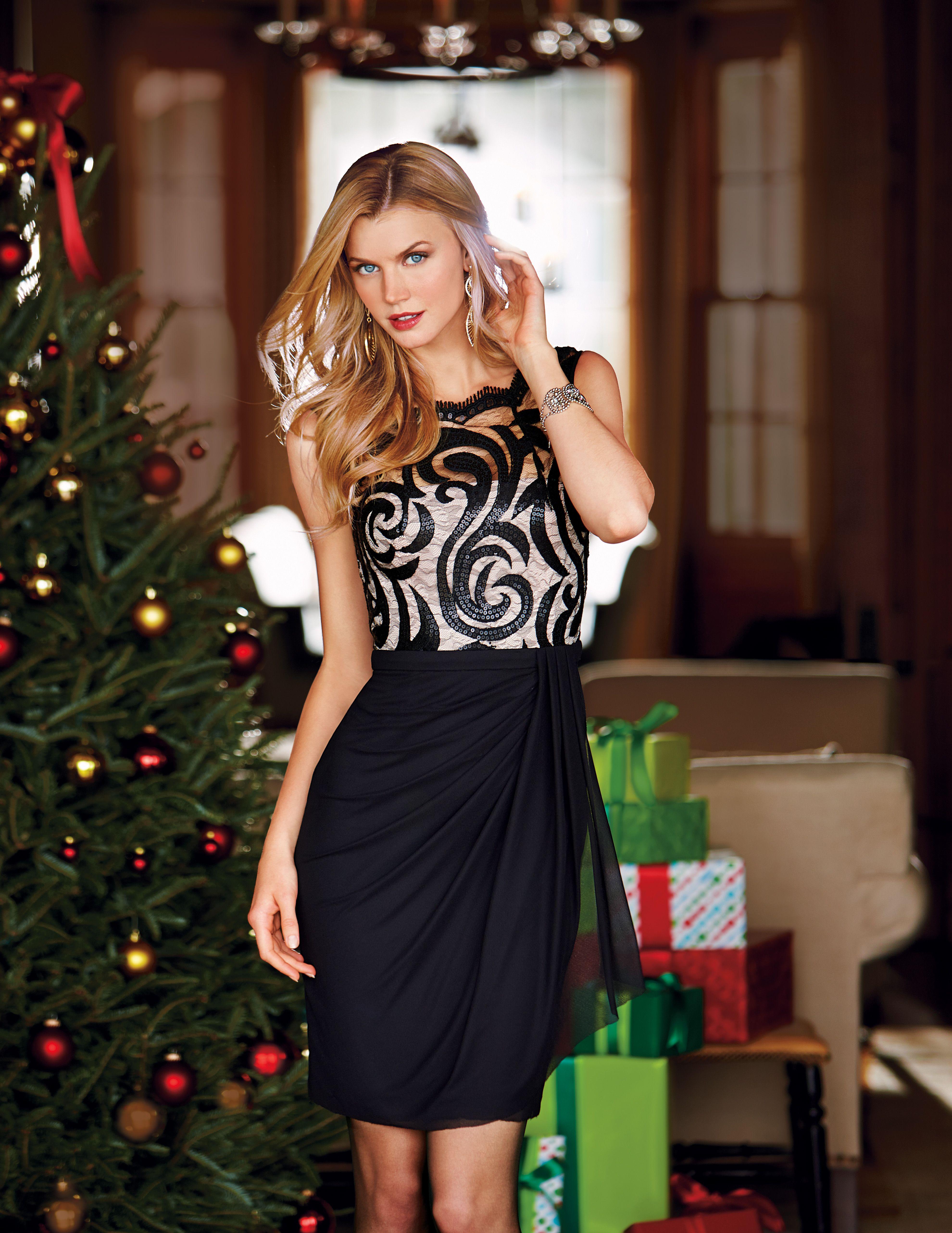 Maggy London Scroll mesh dress #belk #dresses   Women\'s Most Wanted ...