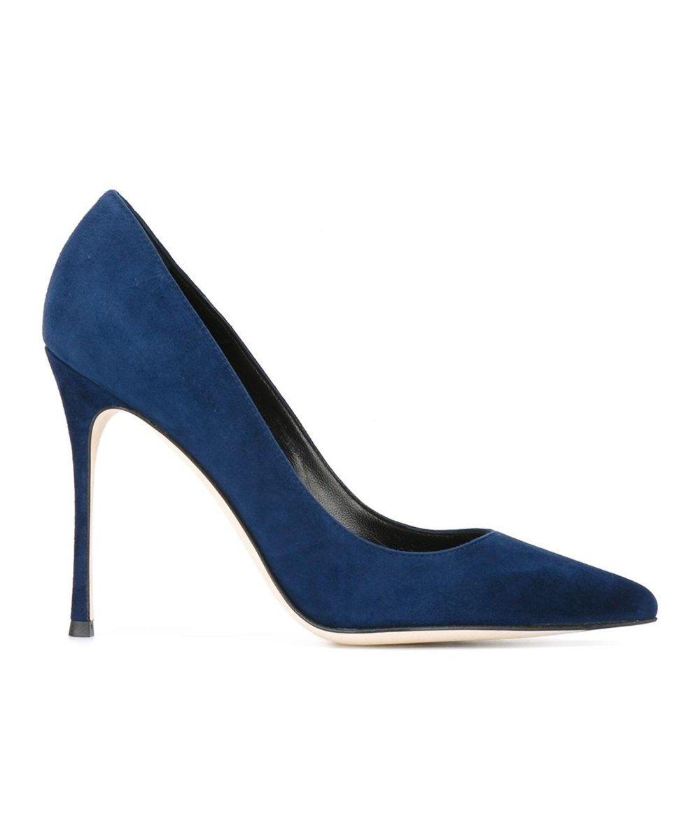 SERGIO ROSSI Sergio Rossi Women'S Blue Suede Pumps'. #sergiorossi #shoes # pumps
