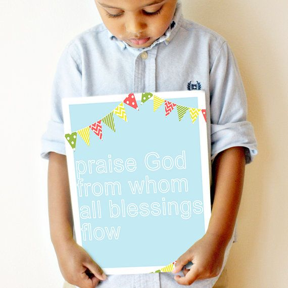 """""""Praise God from whom all blessings flow"""" 11x14 Doxology Print"""