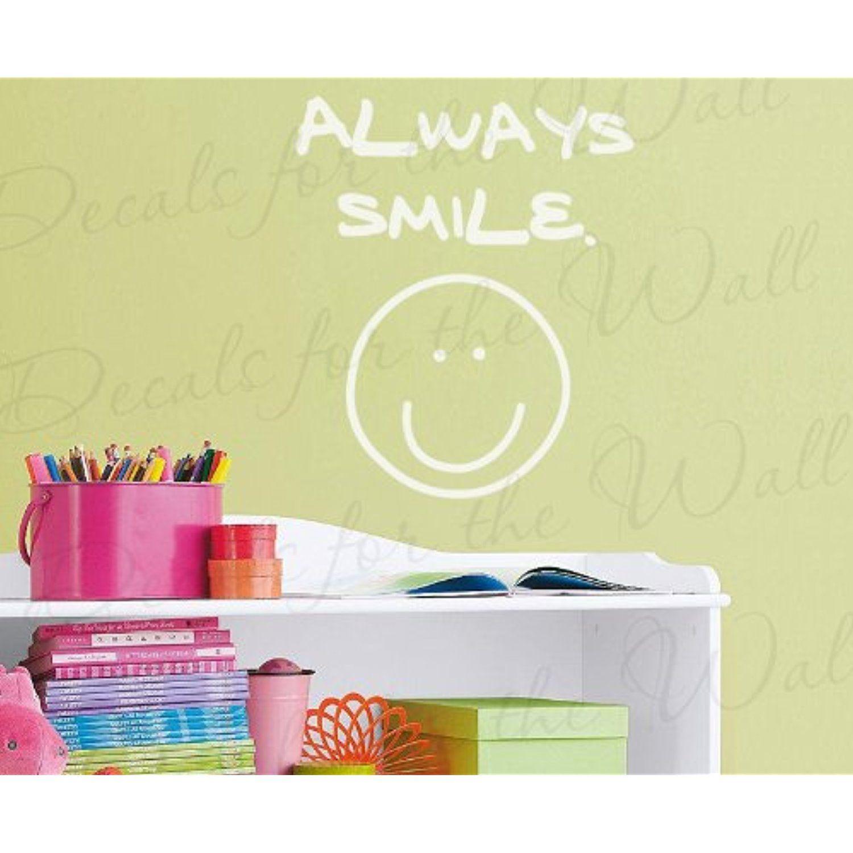 Always Smile Happy Face - Kids Baby Room Nursery Playroom School ...